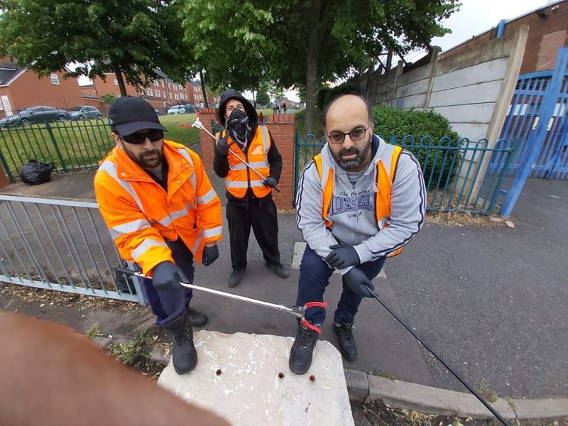 The Waste Warriors (formed by Ghulam Ali Akbar, far right) have promised to help all areas and all people regardless of race or religious background