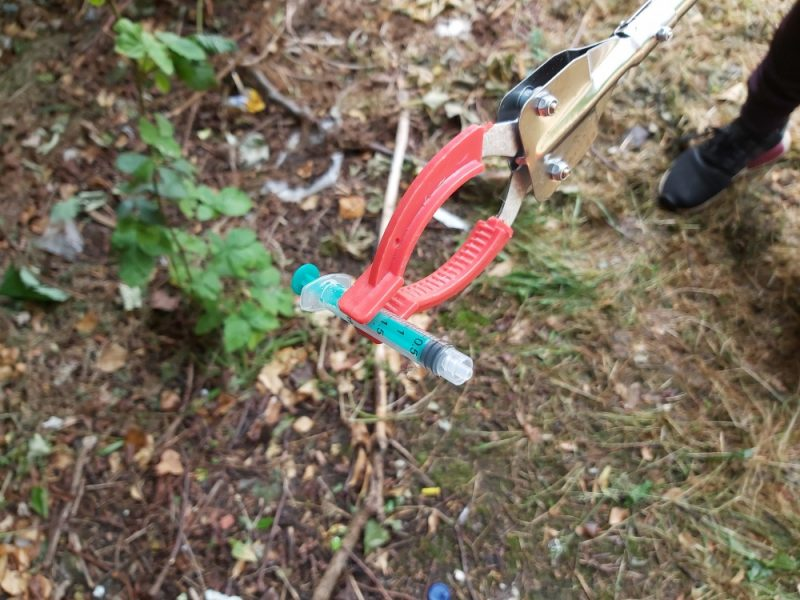 Syringes were found in local parks near children's play areas