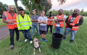 Proud Brummie volunteers from Small Heath help clear up waste in Ward End Park