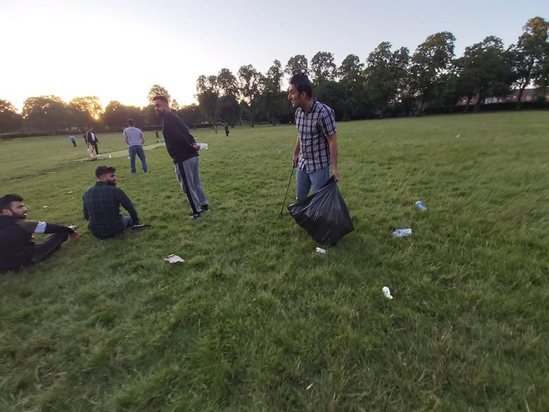 Litter is often left behind when cricket or football teams leave the park