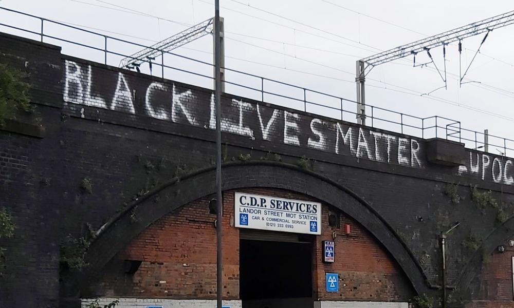 New 'Black Lives Matter' message appears across Birmingham bridge