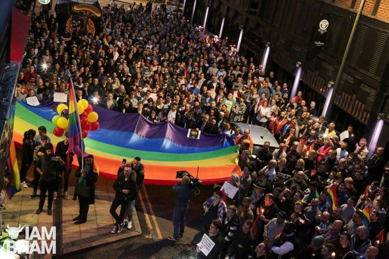 Orlando LGBTQ Pulse Nightclub Shooting Birmingham UK Vigil 13.06.2016 59