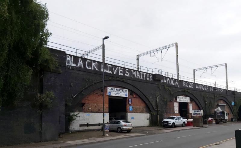 Black Lives Matter graffiti painted in Landor Street, Nechells