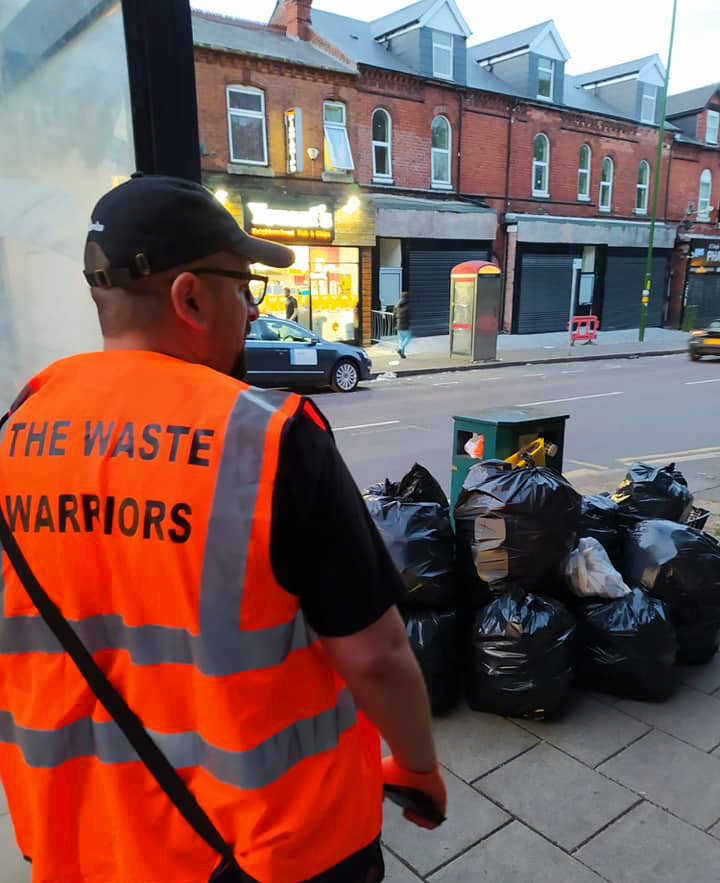 The Waste Warriors carefully collect and safely dispose of the rubbish collected during the cleanup operation
