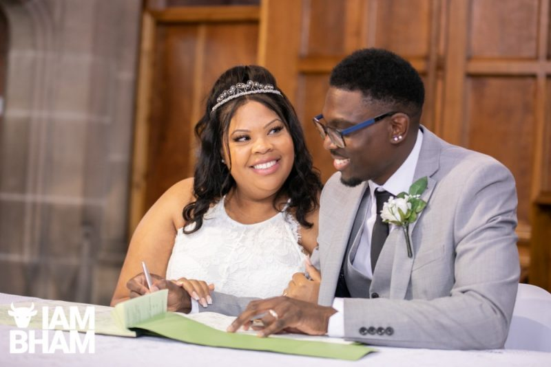 Dionne Brown and Maciya Smith had one of the first weddings after UK lockdown restrictions were eased