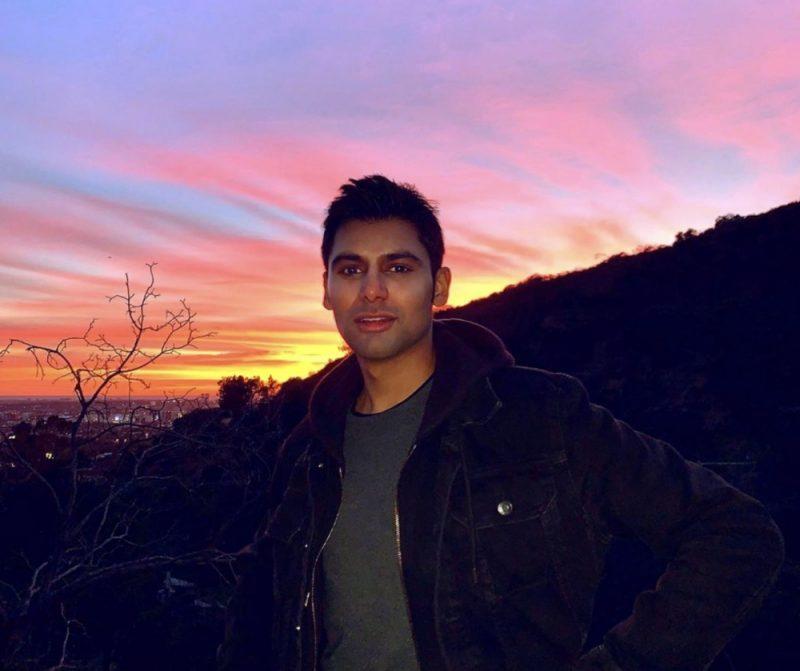 Antonio Aakeel enjoying a sunset in Los Angeles, California