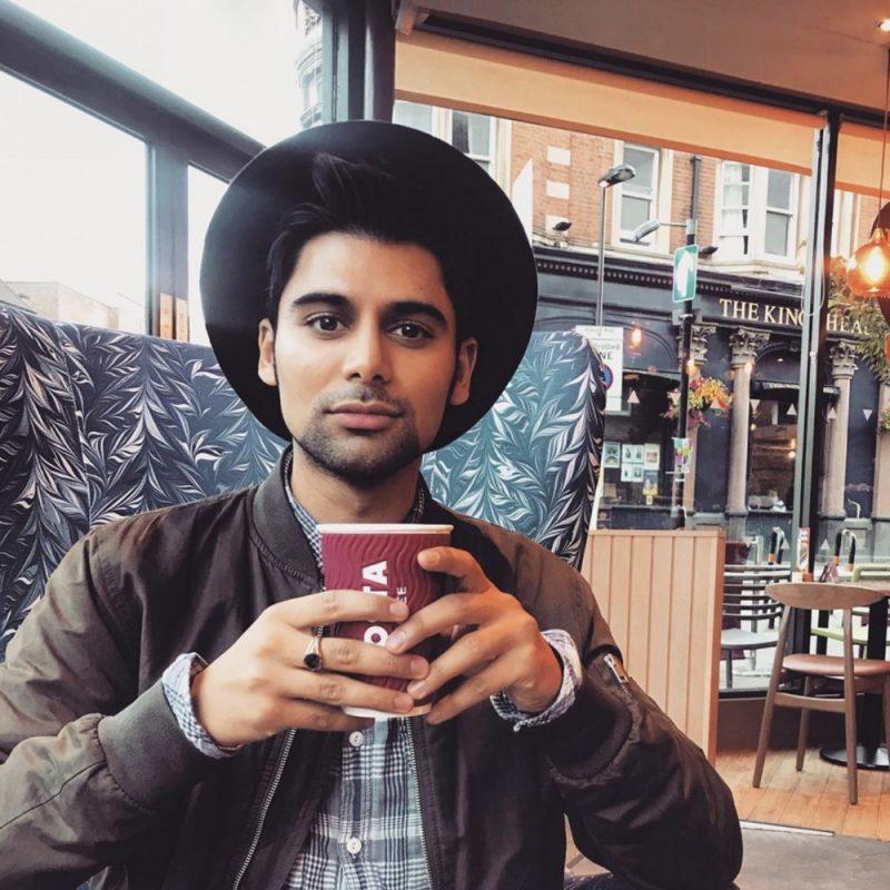 Antonio Aakeel relaxing in London