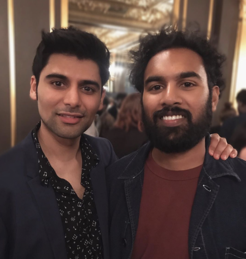 Antonio Aakeel with fellow actor and 'Yesterday' star Himesh Patel