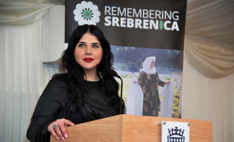 Arnesa Buljusmic-Kustura, spokesperson for Remembering Srebrenica