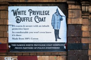 Brum satirical street artist strikes again with 'white privilege' parody poster