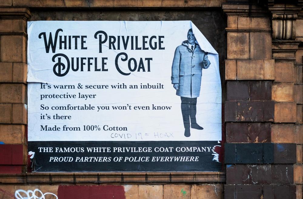 Brum satirical street artist strikes again with 'white privilege' parody poster
