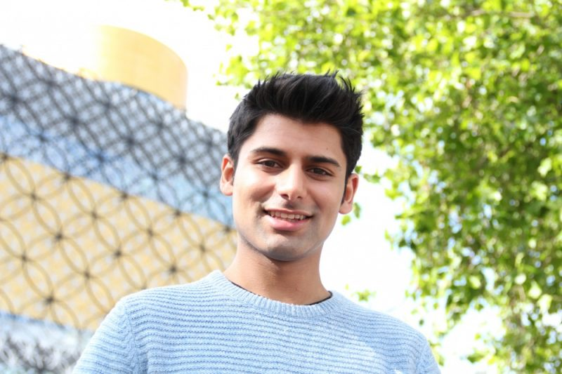 Antonio Aakeel poses for a news promo shoot in Birmingham in 2016