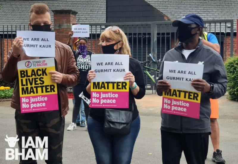Black Lives Matter protesters in Smethwick's Victoria Park