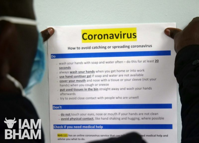 Birmingham currently has the third highest coronavirus rate in the UK