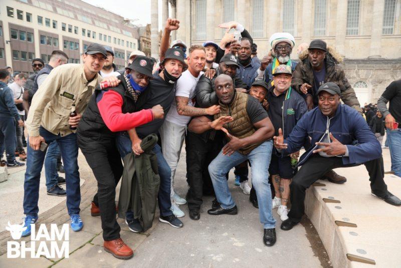 Birmingham City football fans united against racism in Victoria Square