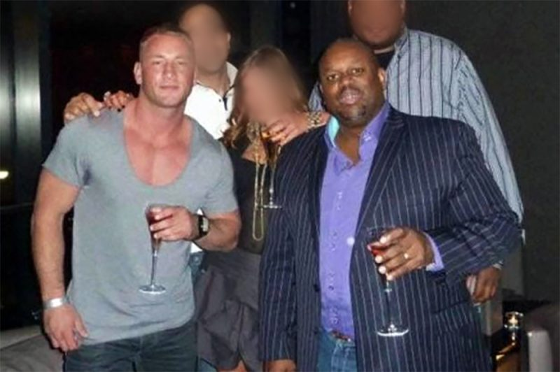 Marc Gauntlett (left) with his close friend Trevor Smith, who was killed by armed police last year