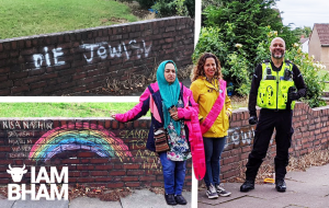 Jewish and Muslim women join forces to remove antisemitic graffiti in Birmingham
