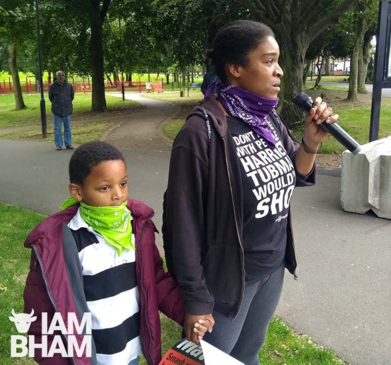 Local resident Natasha Michael spoke out about racist abuse she has received