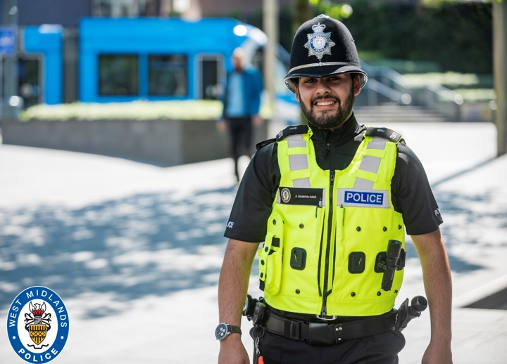 Special Constable Abdullah Imad was inspired to join West Midlands Police after seeing the work of officers in the community