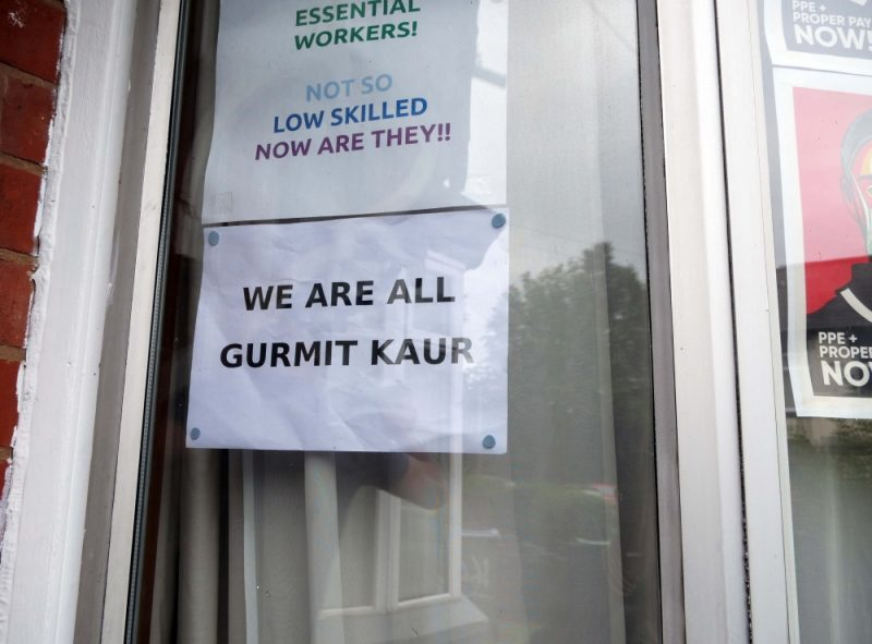 Locals in Smethwick have adopted a 'We Are All Gurmit Kaur' campaign to help the elderly woman