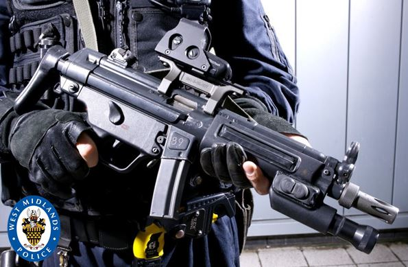 Armed police contained the flat before moving in to make an arrest