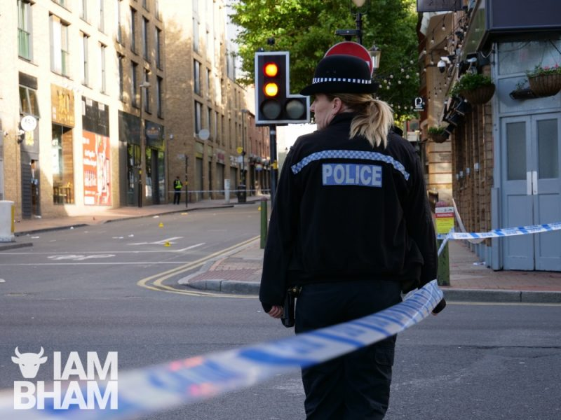 Parts of Southside in Birmingham are sealed off following a series of knife attacks last night