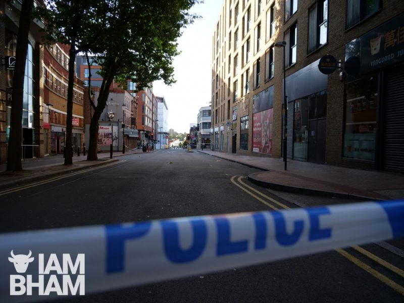 West Midlands Police have cordoned off Hurst Street following a series of stabbings in Birmingham
