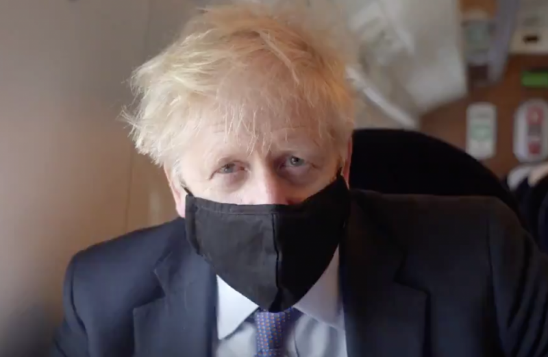 Prime Minister Boris Johnson during a visit to the West Midlands last week