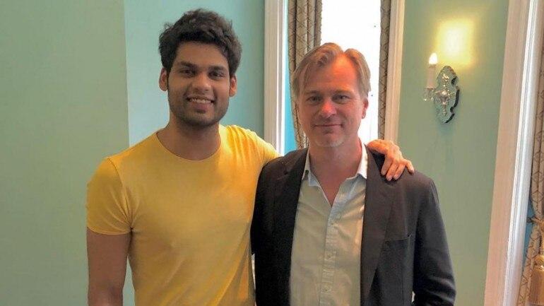 Dimple's nephew Karan Kapadia with TENET film director Christopher Nolan