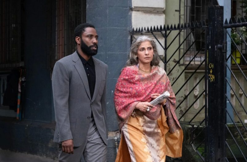 John David Washington with Dimple Kapadia in TENET