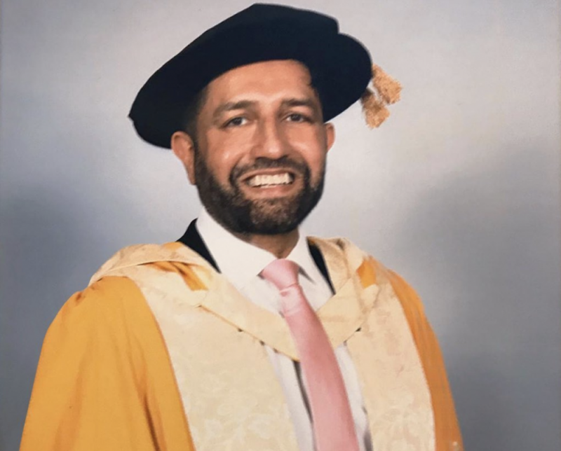 Osman Yousefzada received honorary doctorate degree from Birmingham City University in January 2020