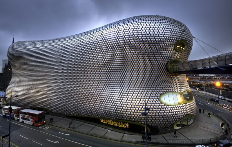 The iconic Selfridges building in Birmingham in 2012