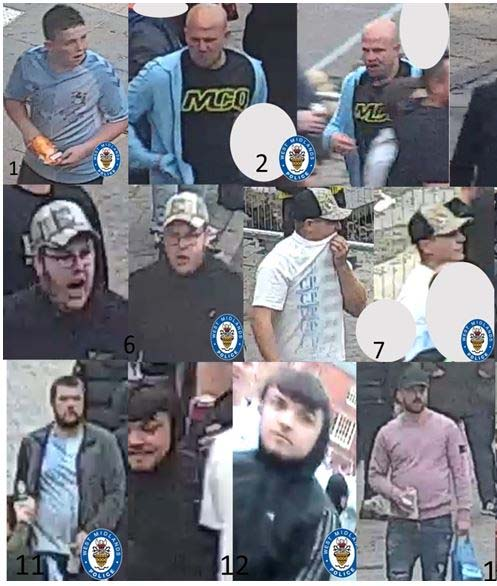 Two men approached a group brandishing a knife before disorder erupted at an unofficial Coventry City FC party