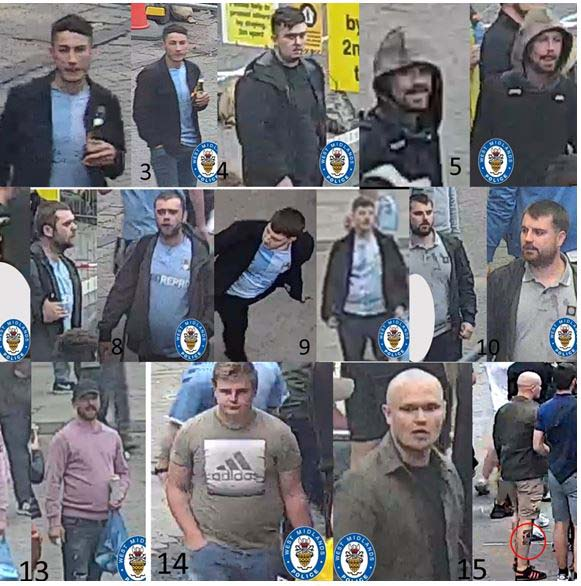 Detectives have scoured CCTV and social media clips and already identified 11 people suspected of involvement in the violence
