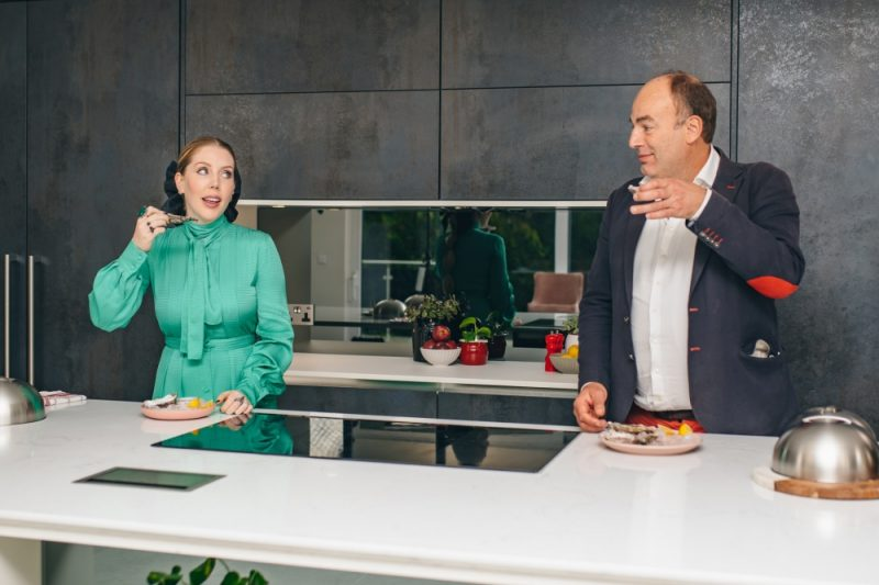 Katherine Ryan challenges her palate with taste psychologist Professor Charles Spence