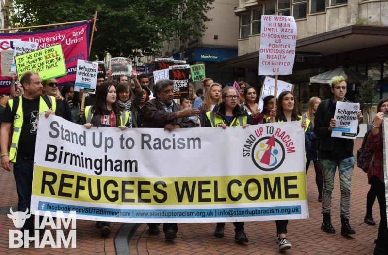 A 'Refugees Welcome' march held in Birmingham in 2017, calling for sanctuary to be given to refugees by Adam Yosef