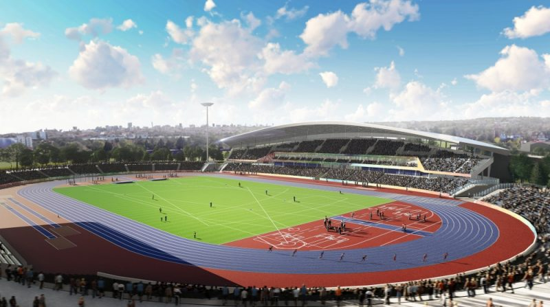An artist's impression of how the Alexander Stadium is set to look in legacy mode following the Birmingham 2022 Commonwealth Games