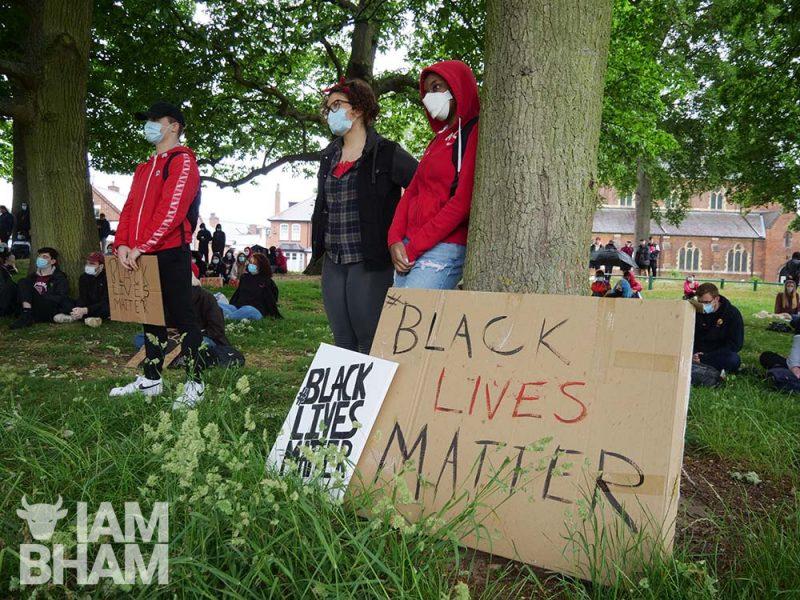 Black Lives Matter BLM protest in Selly Park Birmingham 03.06.20