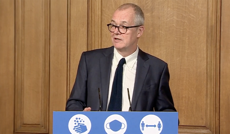Chief scientific officer Sir Patrick Vallance then explained that the R rate continues to grow