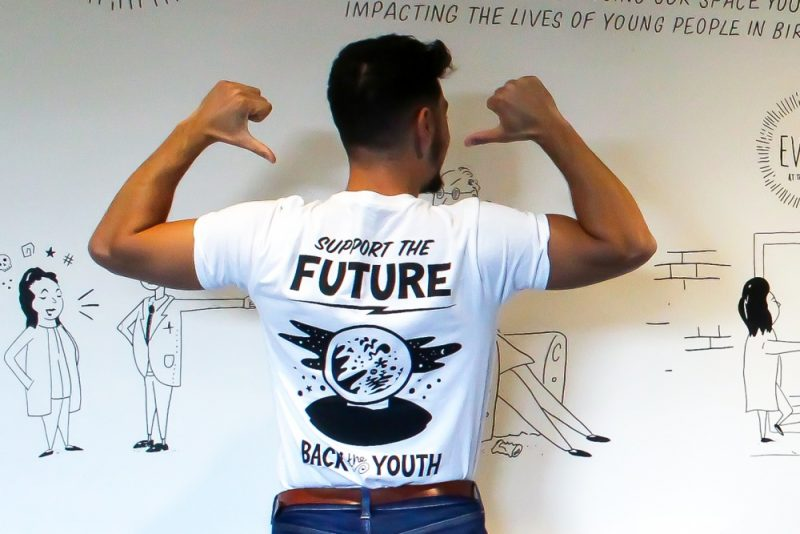 Street artist Foka Wolf is using his art to support employment prospects for the youth