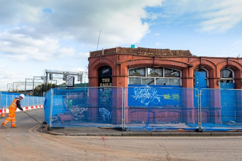 The controversial HS2 project has resulted in iconic buildings being torn down and rushed away