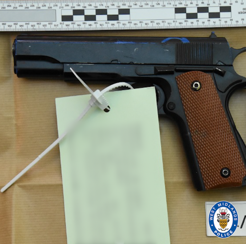 This gun was recovered during the terror investigation