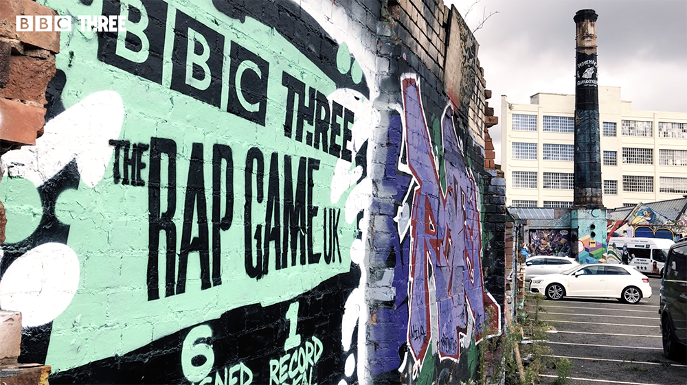 A 7ft mural marking the launch of The Rap Game UK series 2 has been created in DIgbeth