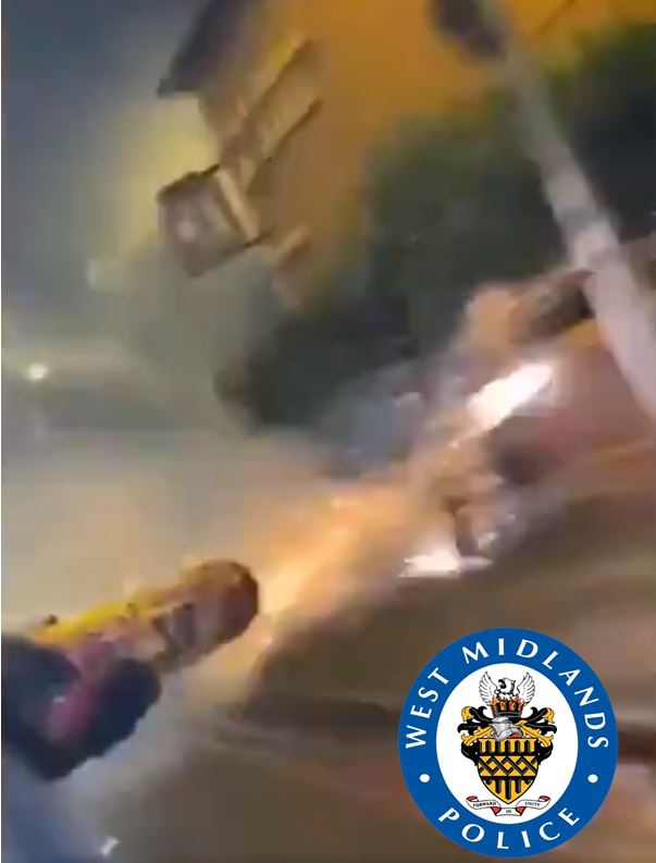 """A video circulating on social media titled """"Drive-by Shooting"""" has now been released by West Midlands Police"""