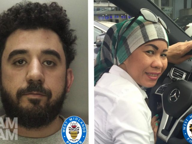 Tamer Moustafa (left) murdered his wife Nelly, stabbing her to death in a fit of rage