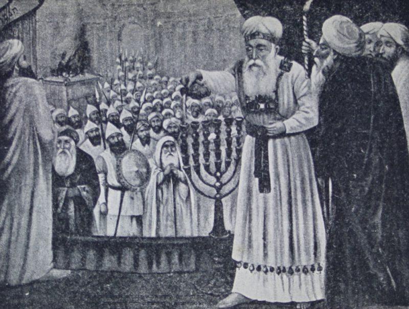 An oil lamp in the Temple lasting for eight days and eight nights as opposed to only one is part of the Hanukkah miracle