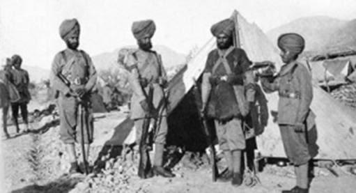 Sikh regiment soldiers. circa 1890