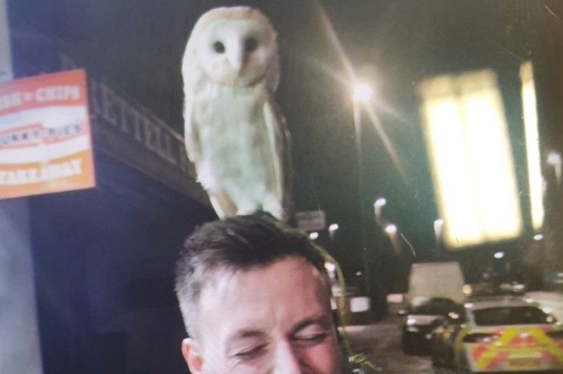 Cop call is a real hoot after officers discover two men taking owl for walk in Brierley Hill