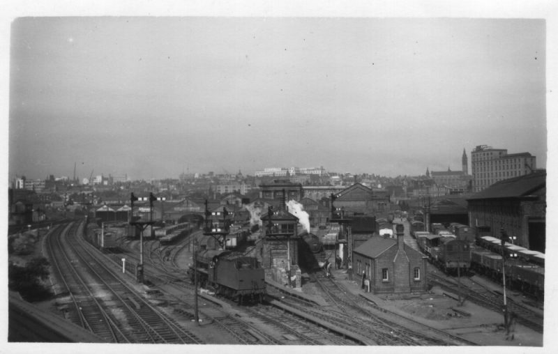 Curzon Street low-speed track section through Birmingham, July 1955