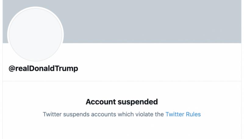 Donald Trump's Twitter account has been suspended